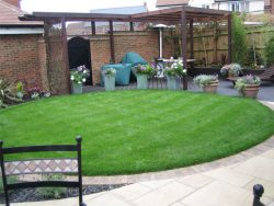 Finished landscaping garden